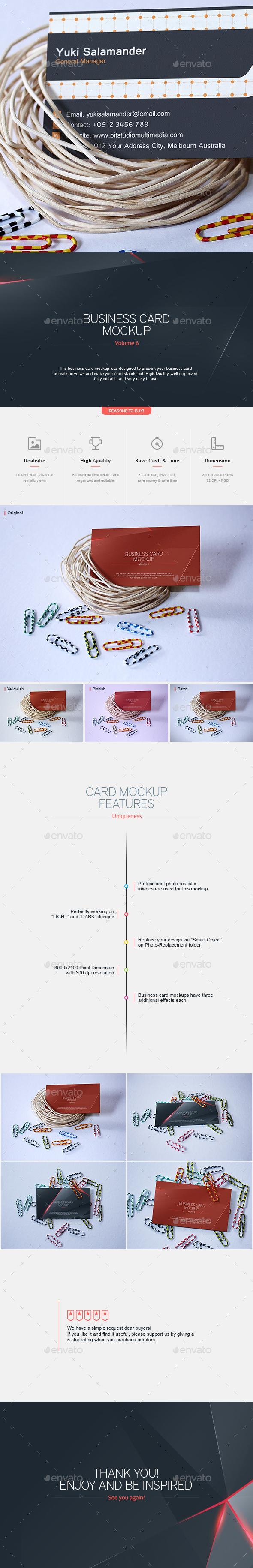 Business Card Mock-Up V.6 - Business Cards Print