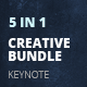 5 in 1 Keynote Creative Bundle - GraphicRiver Item for Sale