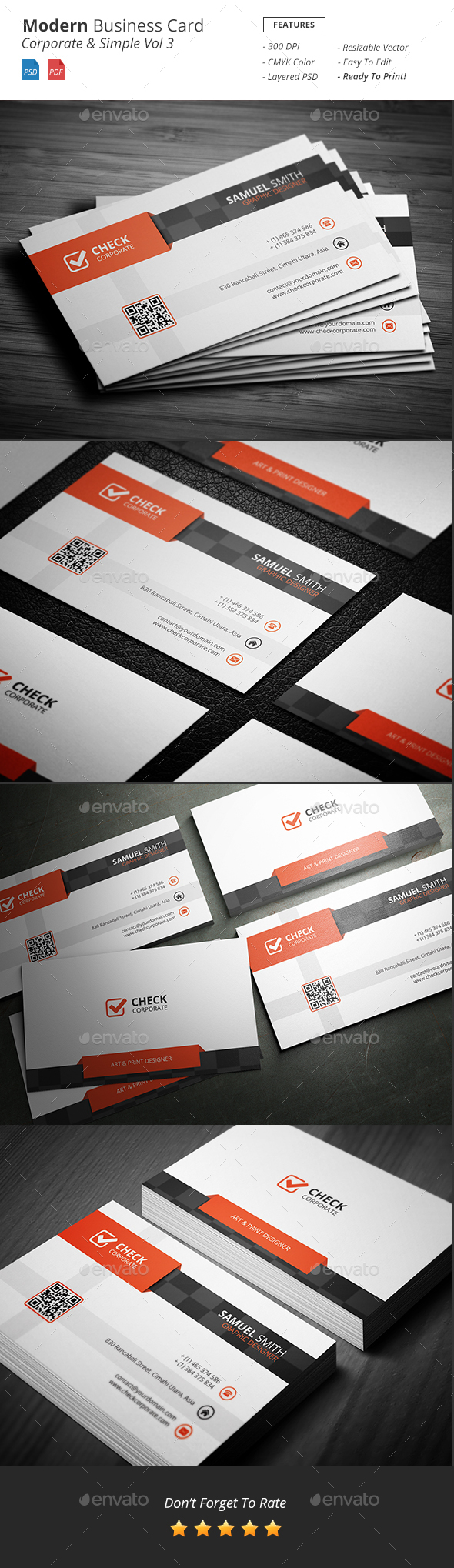 Modern - Corporate Business Card Vol 3 - Corporate Business Cards