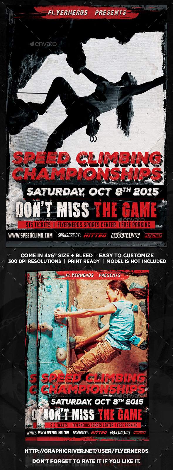 Speed Climbing Championships Sports Flyer  - Sports Events