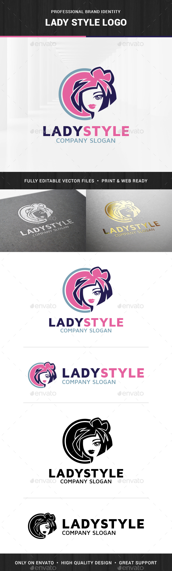 Lady Style Logo Template - Humans Logo Templates