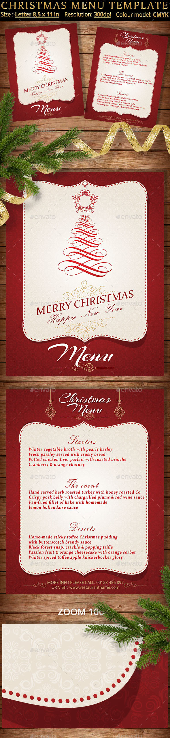 Christmas Menu Template - Restaurant Flyers