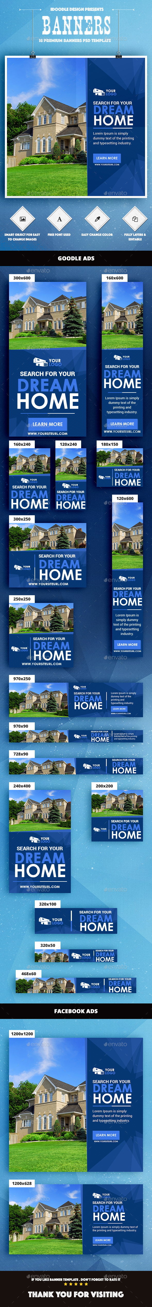 Real Estate Banner Ad - Banners & Ads Web Elements