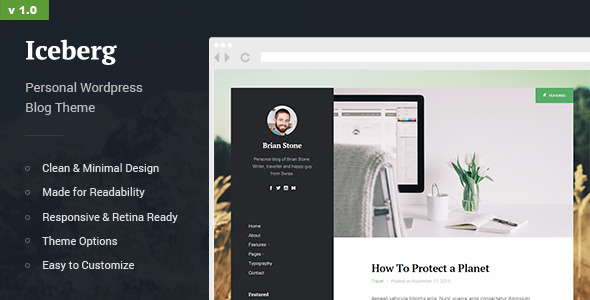 Iceberg – Personal Content-focused Blog Theme