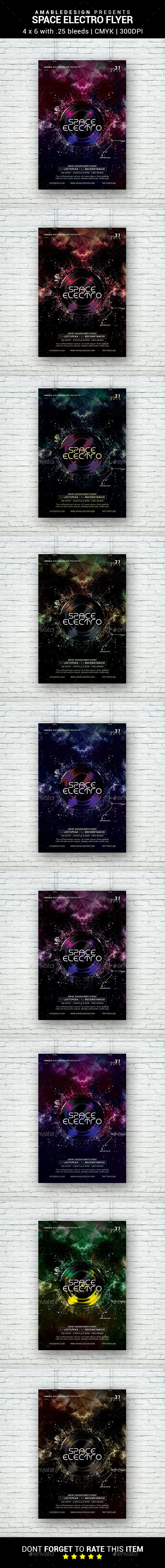 Space Electro Flyer - Clubs & Parties Events