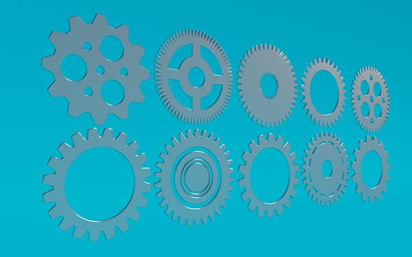 Gears 8 - 3DOcean Item for Sale