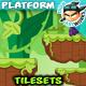 Jungle Platformer Game Tilesets 16 - GraphicRiver Item for Sale