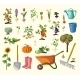 Vector Gardening Set - GraphicRiver Item for Sale