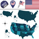 Map of United States - GraphicRiver Item for Sale