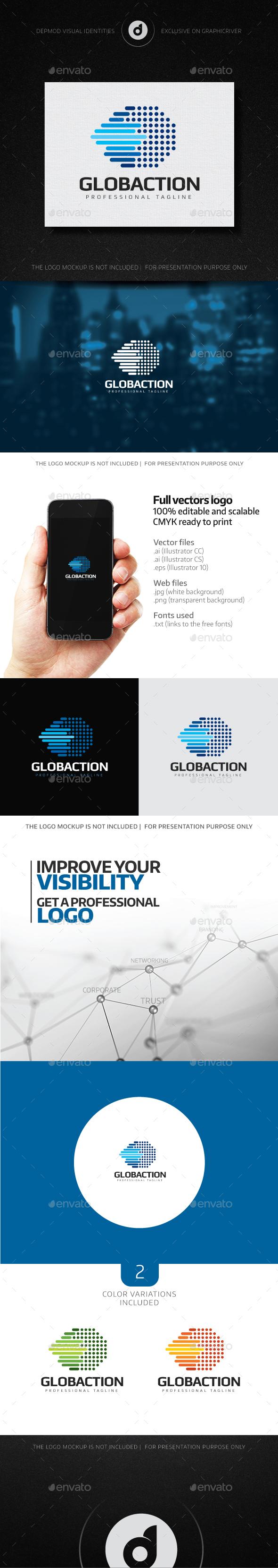 Globaction Logo - Abstract Logo Templates