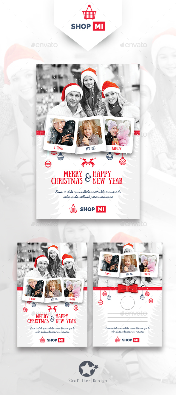 Christmas Postcard Templates - Cards & Invites Print Templates