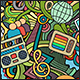 2 Technical Doodles Seamless Patterns - GraphicRiver Item for Sale