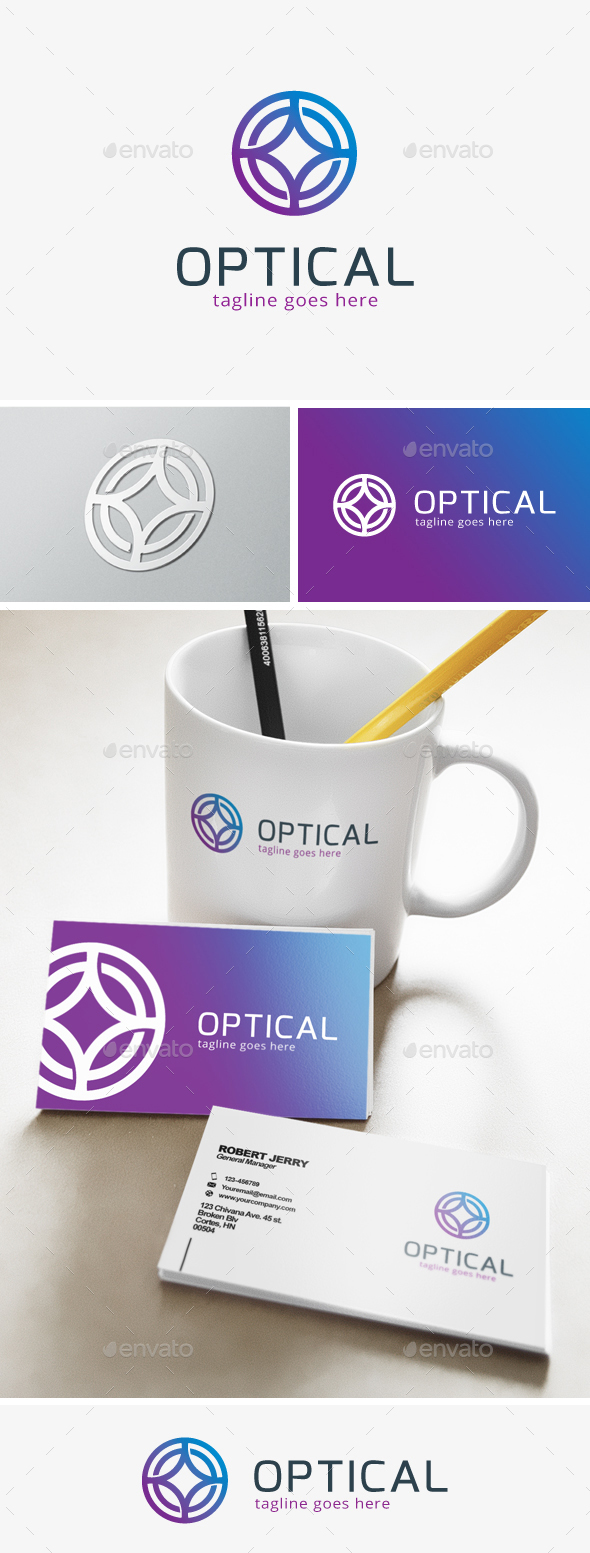 Optic Letter O Logo - Objects Logo Templates