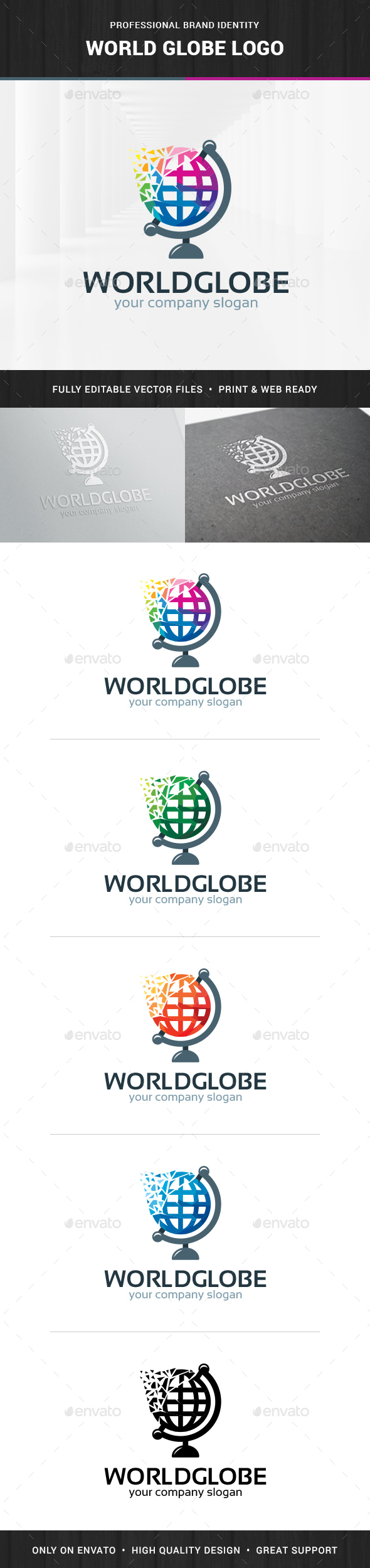 World Globe Logo Template - Objects Logo Templates