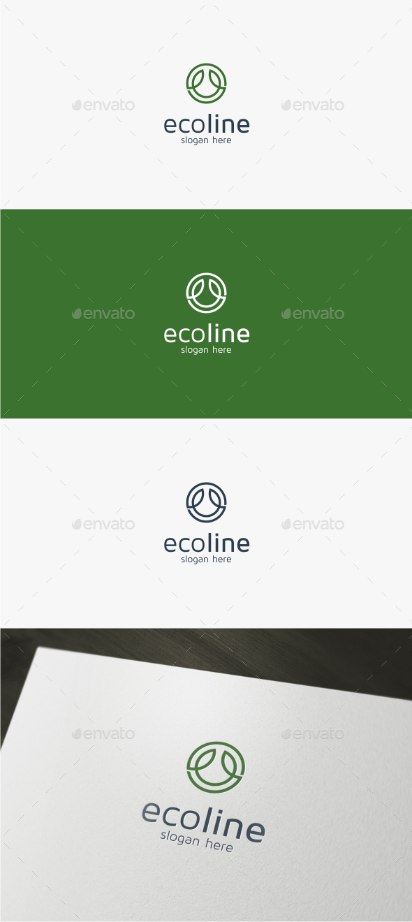 Eco Line - Logo Template - Nature Logo Templates