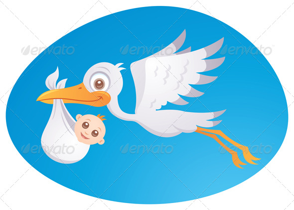 Baby Delivery Stork - Animals Characters