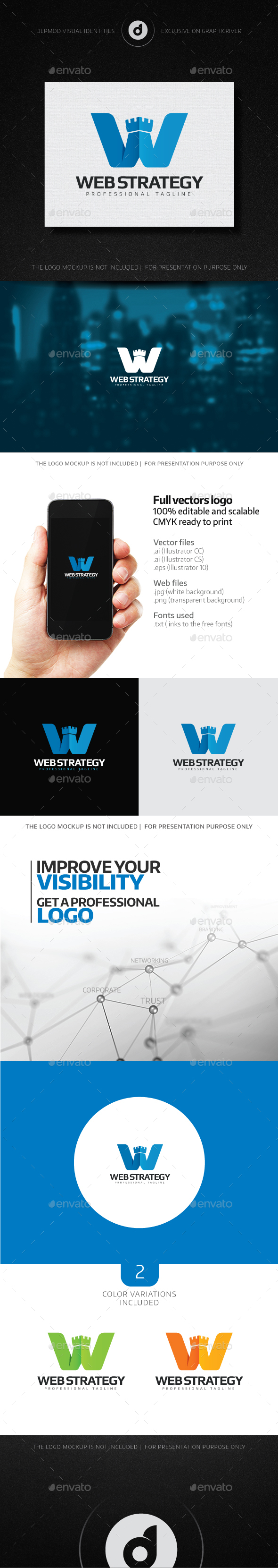 Web Strategy Logo - Letters Logo Templates