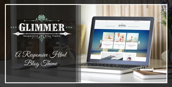 Glimmer – A Responsive HTML Blog Theme