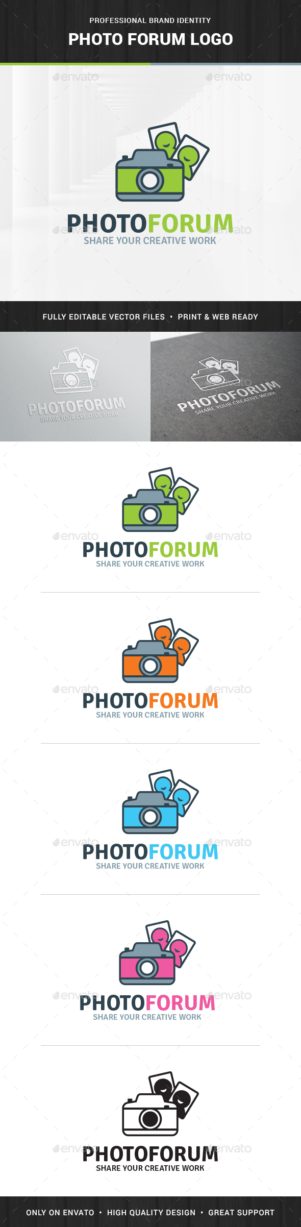Photo Forum Logo Template - Objects Logo Templates