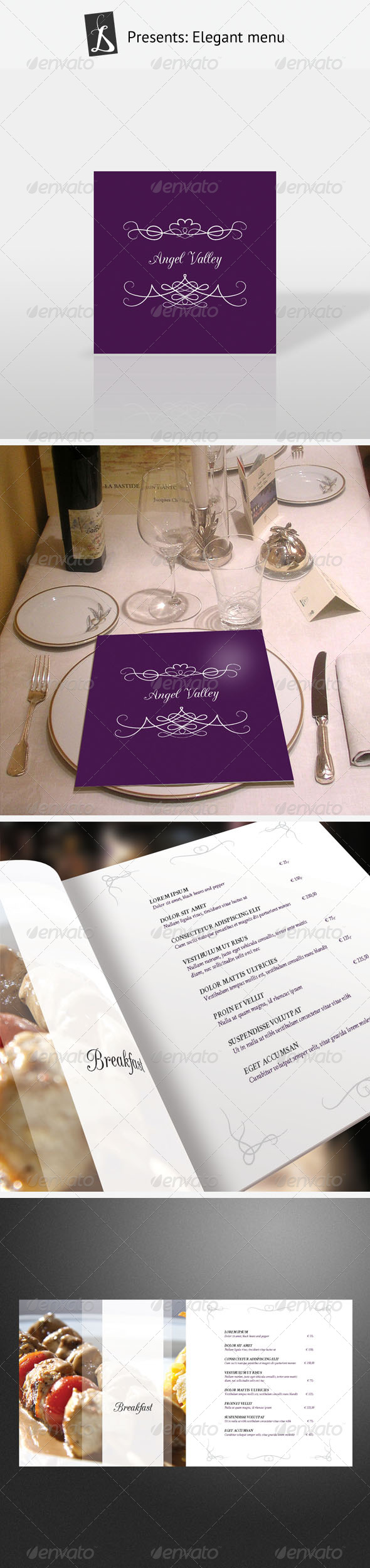 Elegant Menu - Food Menus Print Templates