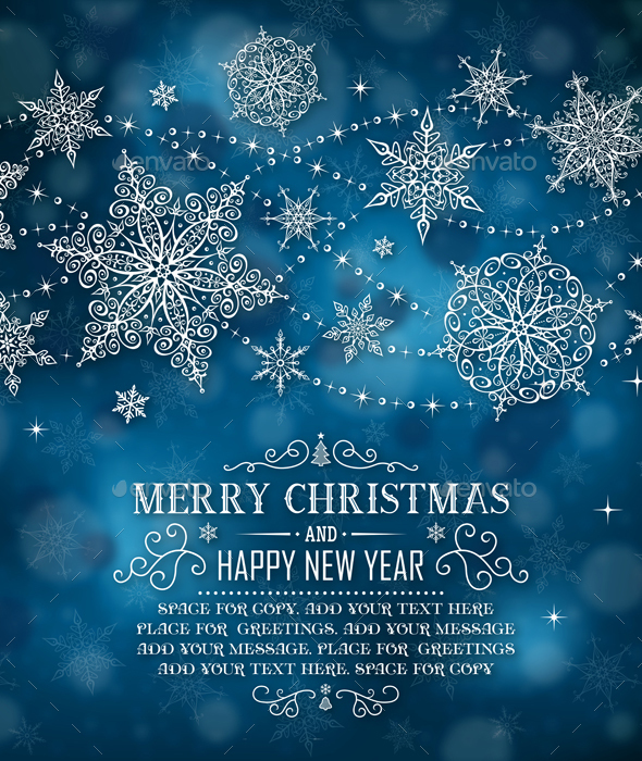 Christmas Greeting Card with Space for Copy - Christmas Seasons/Holidays