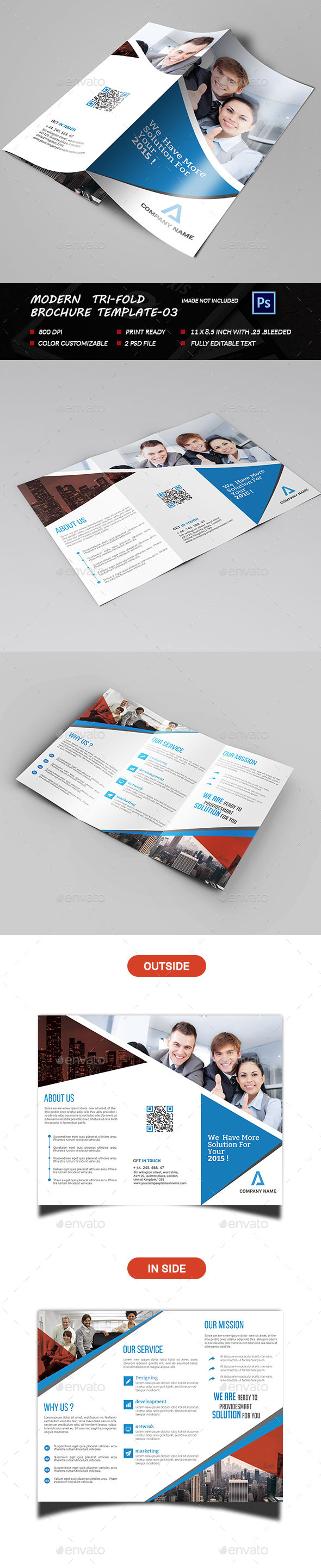 Modern Business Tri-fold-03 - Brochures Print Templates
