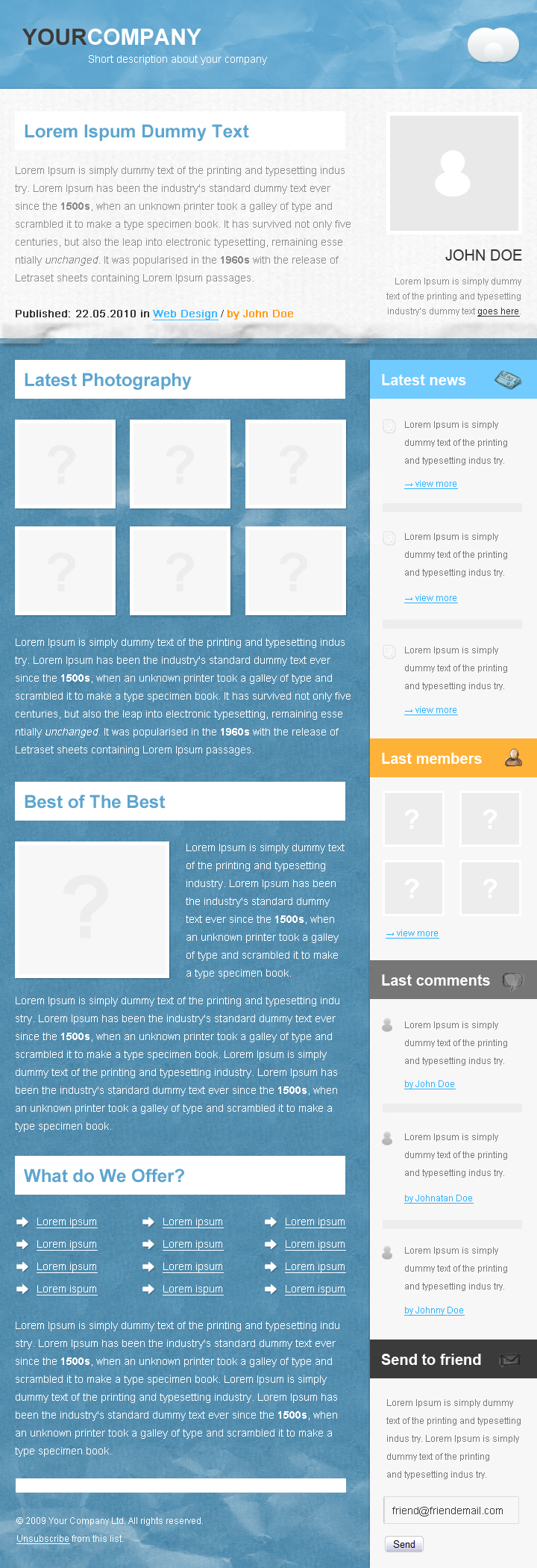 Free Download Corporate Paper Newsletter Nulled Latest Version
