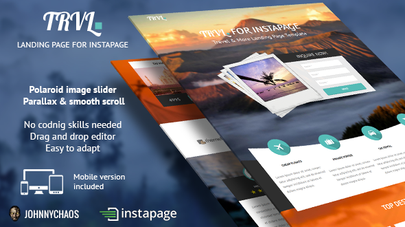 Trvl. - Premium Travel Instapage Landing Page - Instapage Marketing