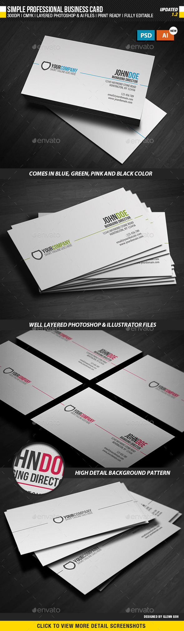 Simple Professional Business Card by glenngoh | GraphicRiver