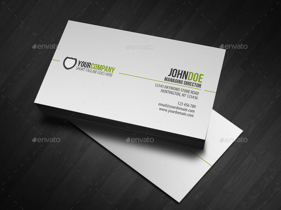 Simple professional business card by glenngoh graphicriver simple professional business card wajeb Image collections