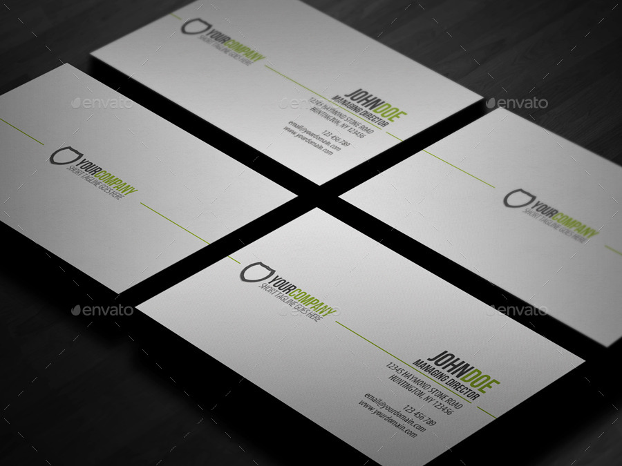 Simple professional business card by glenngoh graphicriver simple professional business card reheart Choice Image