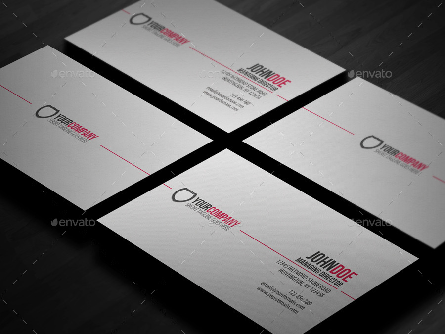 Simple Professional Business Card By Glenngoh GraphicRiver - Professional business cards templates
