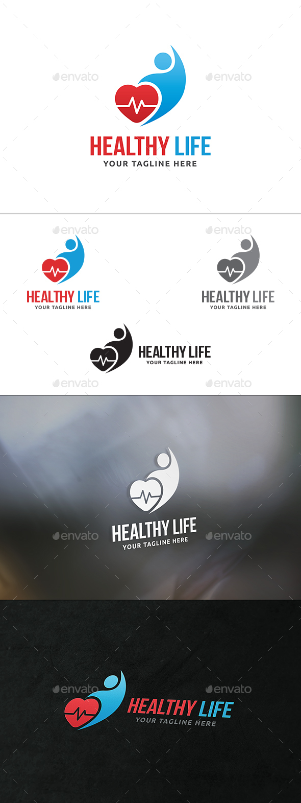Healthy Life Logo - Humans Logo Templates