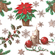 Seamless Pattern with Christmas Decorations - GraphicRiver Item for Sale