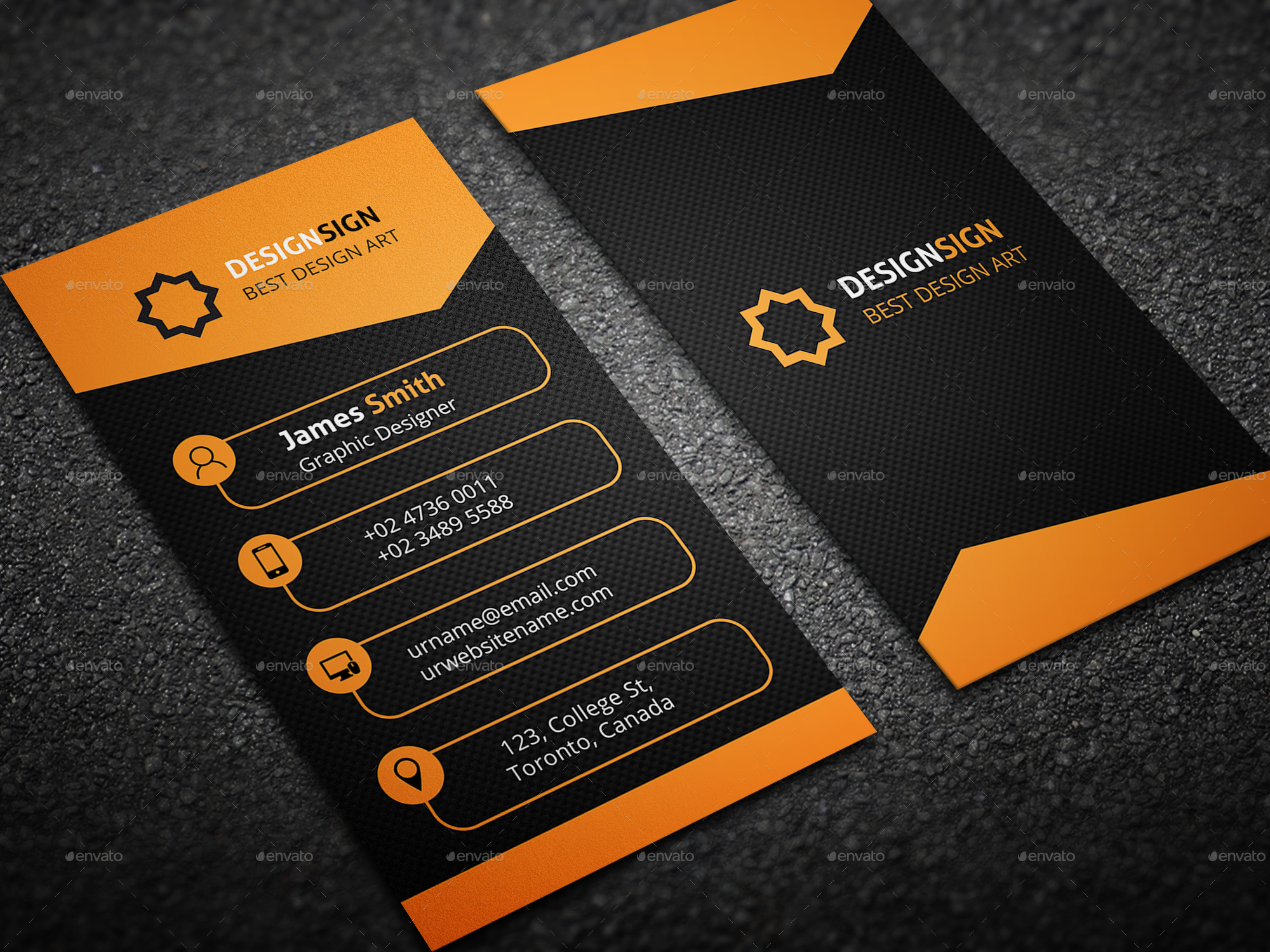 vertical corporate business card by designsign