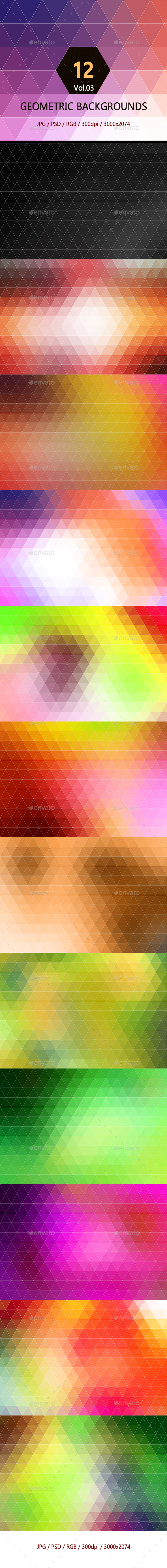 12 Geometric Backgrounds Vol.03 - Abstract Backgrounds