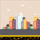 City Wallk - Game Background - GraphicRiver Item for Sale