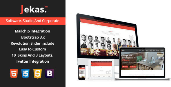 Jekas – Software & Business WordPress Theme