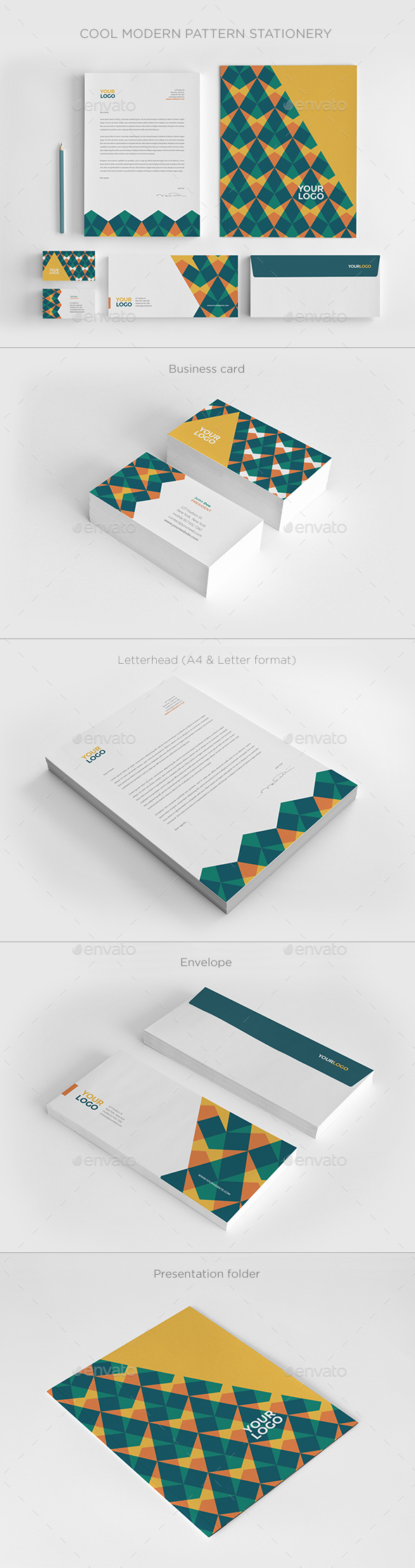Cool Modern Pattern Stationery - Stationery Print Templates