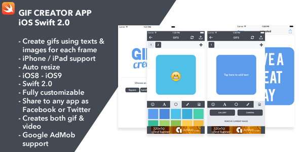 Gif Creator - iOS App - CodeCanyon Item for Sale