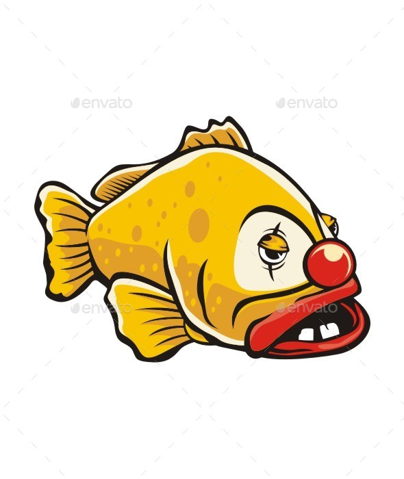 Clown Grouper Fish - Animals Characters