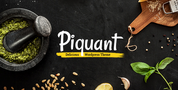 Piquant – A Restaurant, Bar & Café Theme