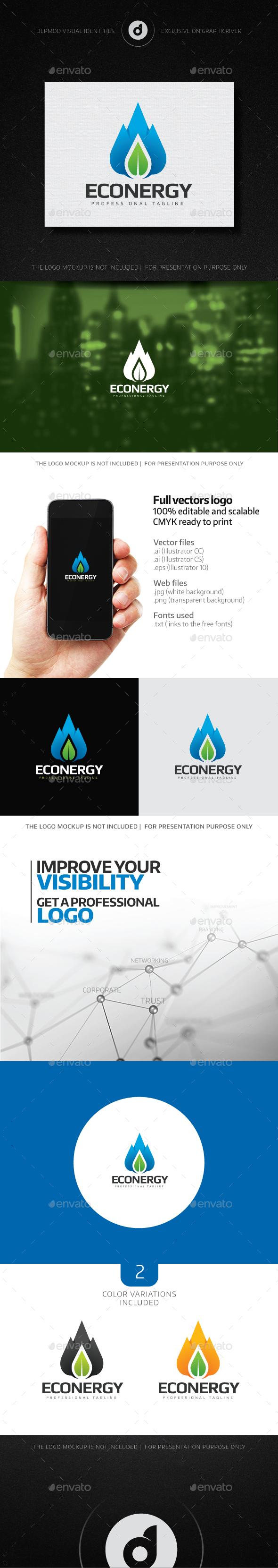 Econergy Logo - Nature Logo Templates