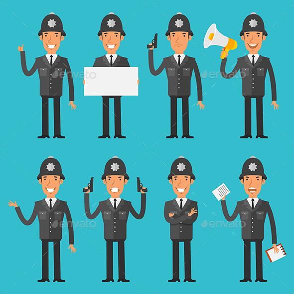 English Policeman - People Characters