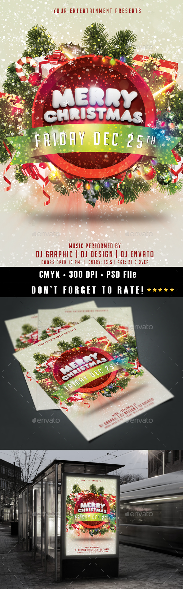 Merry Christmas flyer v2 - Holidays Events