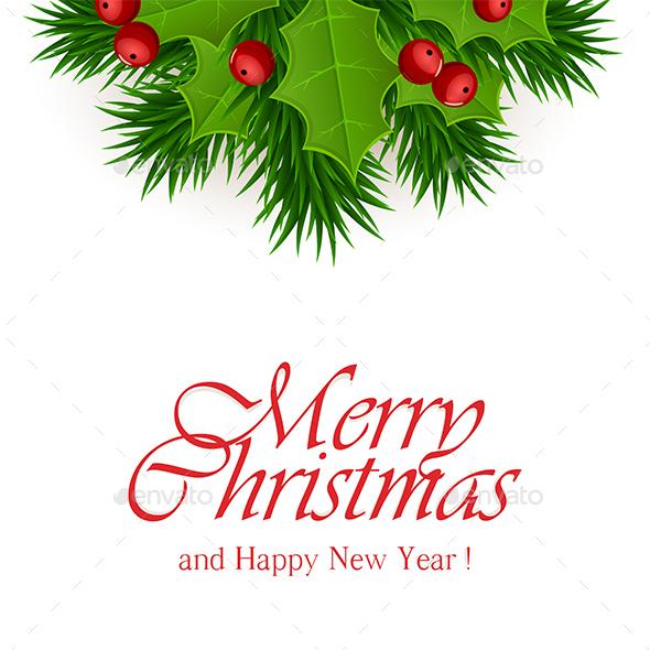 Christmas Decorations on White Background - Christmas Seasons/Holidays