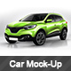 Photorealistic French Crossover car Wrap Mock-up - GraphicRiver Item for Sale