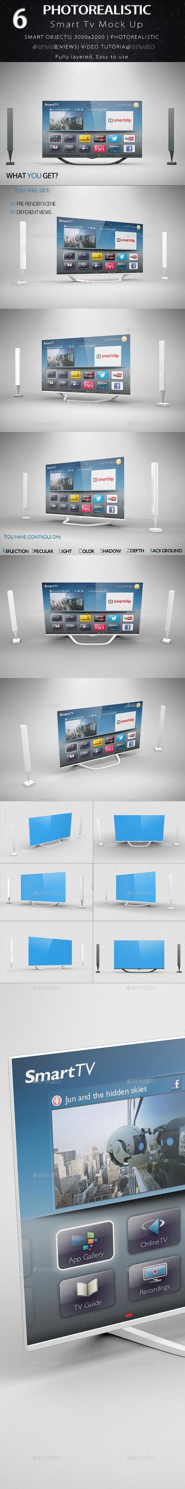 Smart Tv Mock Up - Product Mock-Ups Graphics