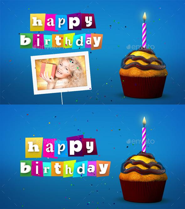 Happy Birthday Celebration - 3D Backgrounds