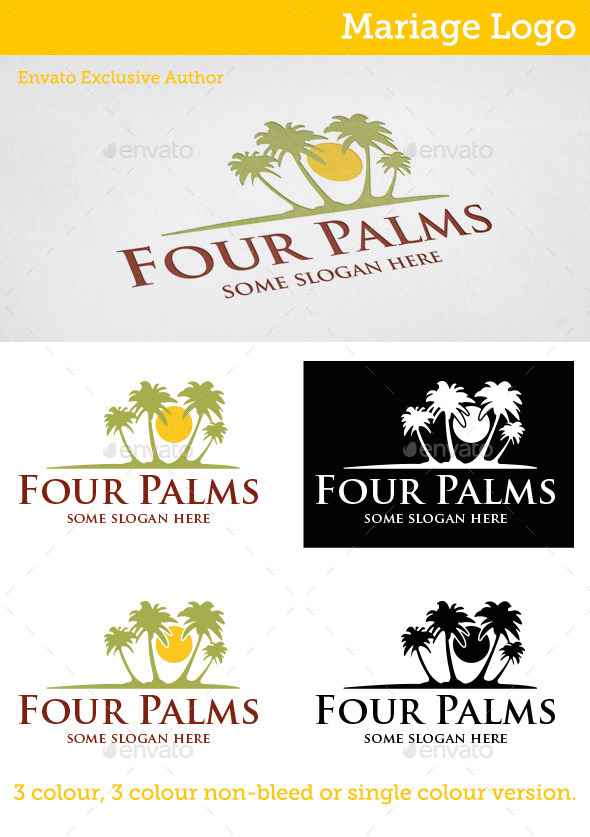 Four Palms Logo - Nature Logo Templates